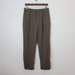 Forever 21 Olive Green Woven Ankle Pants NWT